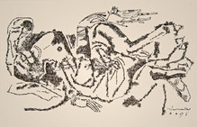 Untitled (Reclining woman with parrot)