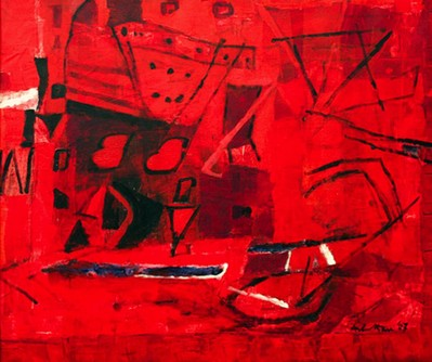 Untitled I (Red abstract) - 2007