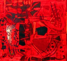Untitled II (Red abstract)