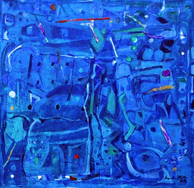Untitled (Blue abstract) - 2007