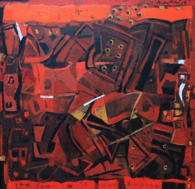 Untitled (Red / orange abstract) - 2008