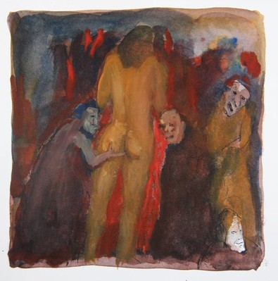 Untitled (men groping woman)