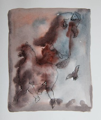 Untitled (horse,figure and bird)