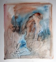 Untitled (three nude men and women)