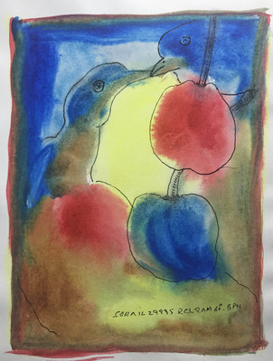 Untitled (Two birds with apples) - 1995